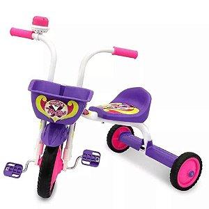 Triciclo Top Girl Ultra Bike - Branca e Roxa