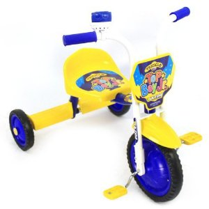 Triciclo Top Boy Jr Ultra Bike - Azul e Amarelo