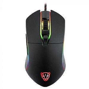Mouse Motospeed V30 RGB Gamer com Macro - Preto