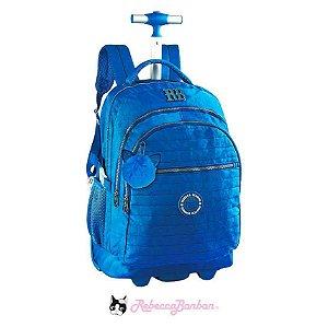 Mochila De Rodinhas Notebook Rebecca Bonbon Azul - RB2039