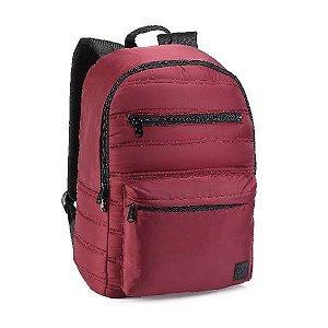 "Mochila Juvenil Denlex  Notebook 16"" Frente Acolchoada DL0722 Vermelha"