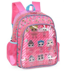 Mochila Escolar Luxcel Lol Com Porta bonecas IS34791LO Rosa