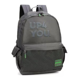 Mochila Juvenil Para Notebook UP4YOU MJ48672UP - Cinza