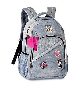 Mochila Escolar Rebecca Bonbon  Notebook RB2055 Jeans Clara