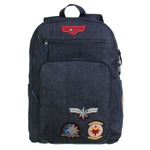 Mochila DMW Notebook Capita Marvel Jeans com Patches  Decorativos 11652