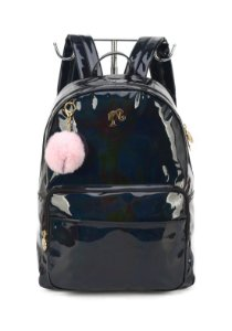 Mochila Luxcel Holografica Barbie Preta MS45822BB
