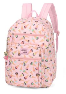 Mochila Up4You Maisa Estampa Sorvete MJ48652UP Rosa
