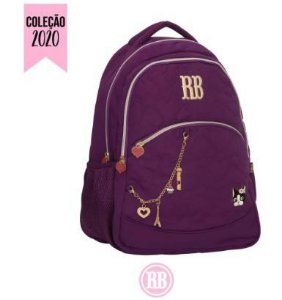 Mochila Escolar Rebecca Bonbon Notebook RB2037 - Roxa EAN 7908040420242