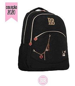 Mochila Escolar Rebecca Bonbon Notebook RB2037 - Preta