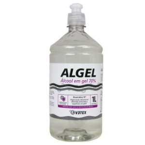 Álcool em gel 70% 1 Litro - Algel