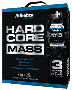 Hardcore Mass com Creatina Atlhetica Nutrition Pro Series 3kg