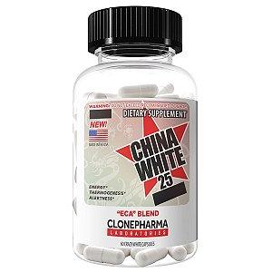 China White 25 - ECA Blend - Clone Pharma 60 Tabletes