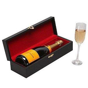 Kit Champanhe Veuve Clicquot 750ml em Caixa  Madeira