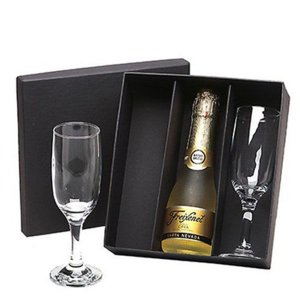 Kit Espumante Freixenet Carta Nevada Baby 200ml com 2 Taças