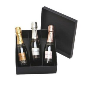 Kit Espumante Chandon 3 Babies 187ml Brut, Demi Sec e Rosé