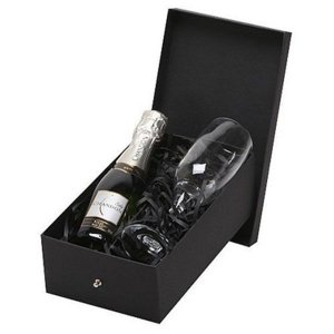 Kit Espumante Chandon Baby Demi Sec 187ml com Taça