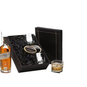 Kit Whisky Johnnie Walker Platinum 750ml com Copos e Porta Copos