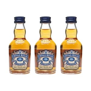 Whisky Chivas Regal 18 Anos Mini 50 ml Kit com 3 Unidades