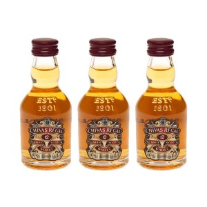 Whisky Chivas Regal 12 Anos 50 ml Kit com 3 Unidades