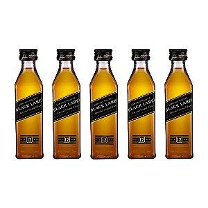 Whisky Black Label Mini 50 ml Kit com 5 Unidades