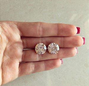 Brinco Gigante Blumenau Zircônia Diamond Dourado