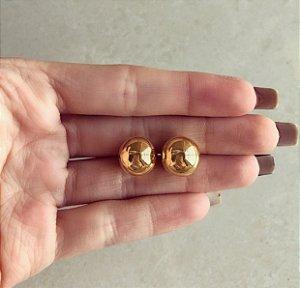 Brinco Bolinha Gigante Dourado