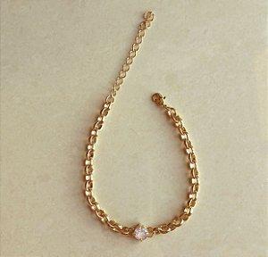 Pulseira Elos com Zircônia Diamond Dourado