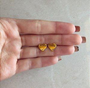 Brinco Coração Cute Dourado