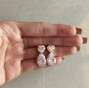 Brinco Capadócia Maxi Zircônias Luxo Diamond Dourado