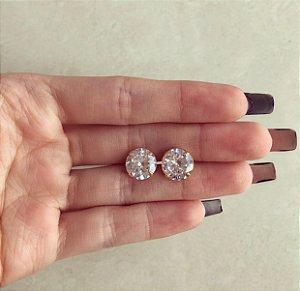 Brinco Extra Grande Blumenau Zircônia Diamond Dourado