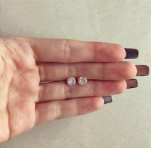 Brinco Médio Blumenau Zircônia Diamond Dourado