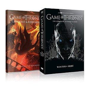 DVD - Game Of Thrones - 7 Temporada + Bonus Conquest & Rebellion