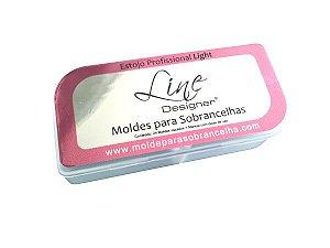 Molde de Sobrancelha | Estojo Profissional LIGHT - Com 24 moldes