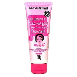 Gel Facial Peel Off Rosa Mosqueta e Argila Rosa Dermachem