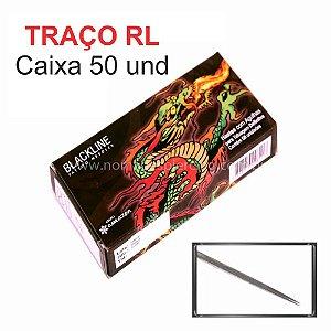 Agulha Black Line Traço RL - Caixa 50 Und.