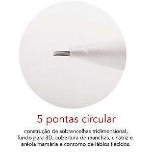 Agulha 5 pontas circular - Caixa