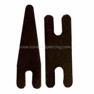 Par de molas em aço - modelo 02 preta
