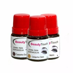 Kit 3 frascos henna sobrancelha Beauty Touch