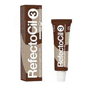 Refectocil tintura para sobrancelhas e cilios - castanho natural 3.0