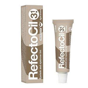 Refectocil tintura para sobrancelhas e cilios - castanho claro 3.1
