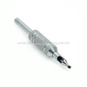Biqueira de Alumínio e Aço Grip 16mm Pintura Fechada - 5 agulhas