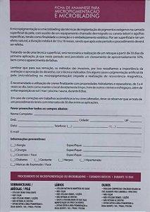 Ficha Anamnese 100 Folhas Mag Estética
