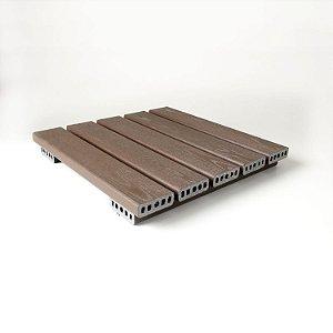 Deck 50x50 cm modular  - Madeira Plástica