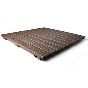 Deck 100x100 cm modular  - Madeira Plástica
