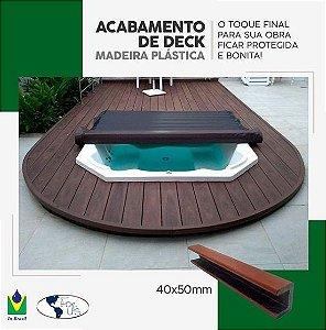 Tábua Plástica Acabamento de Borda Para Deck 3 metros Ipê