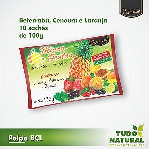 Polpa BCL - Beterraba, Cenoura e Laranja (10 un.)
