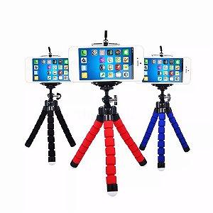 Mini Tripé Universal Flexível para Câmeras com Suporte para Celular