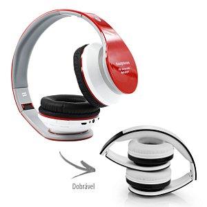 Fone de Ouvido Headphone com Micro Sd Usb P2 Radio FM MP3 Bluetooth sem fio B-01