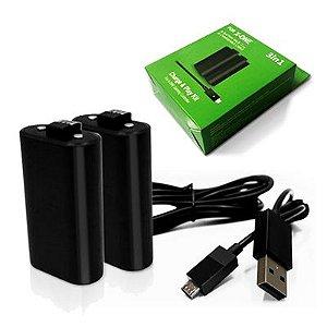 Kit com 2 Baterias Xbox One + Cabo Recarregável P/ Controle