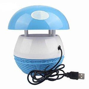 Mata Pernilongo Insetos e Mosquito da Dengue Luminária LED Armadilha Fotocatalítico Abajur Usb de Cogumelo